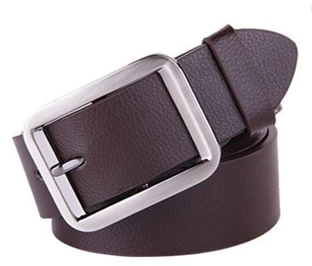 Justry Belt Alloy Pin Buckle Waistband Genuine Leather Men Waist Wide Strap Casual,coffee