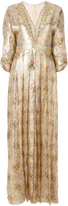 Vilshenko pleated patterned dress