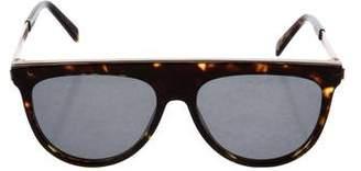 Balmain Tortoiseshell Flat Top Sunglasses
