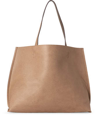 Street Level Taupe & Brown Reversible Tote