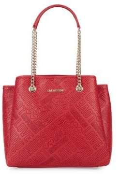 Love Moschino Embossed Logo Shoulder Bag