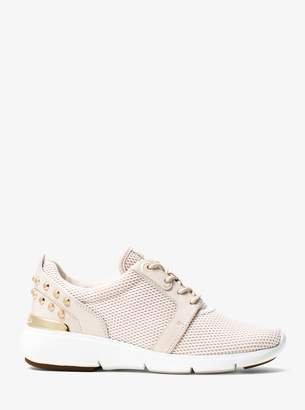 MICHAEL Michael Kors Astor Studded Mesh and Leather Sneaker