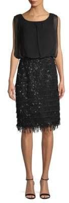 Calvin Klein Sequined Sleeveless Blouson Dress