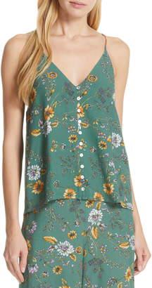 Dolan Naomi Floral Button Front Cami Top