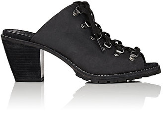 Woolrich John Rich & Bros. WOOLRICH JOHN RICH & BROS. WOMEN'S ROCKIES LEATHER LACE-UP MULES $180 thestylecure.com