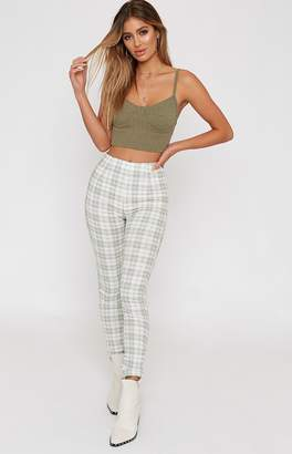 Beginning Boutique Doing It Right Pants Sage Plaid