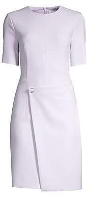 BOSS Women's Disula Ponte Faux-Wrap Dress - Size 0