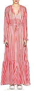 Mira Mikati Women's Striped Georgette Maxi Dress - Pink