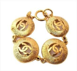 Gold Tone Hardware Coco Mark Vintage Bracelet