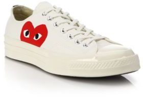 Comme des Garcons Play Peek-A-Boo Canvas Low-Top Sneakers $125 thestylecure.com