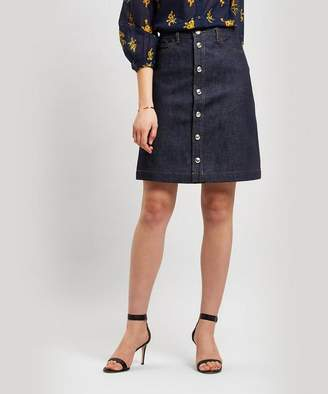 162f54397 A.P.C. Therese Button-Down Denim Skirt