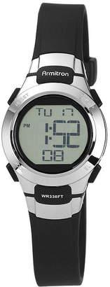 JCPenney Armitron Womens Black Chronograph Digital Sport Watch 45/7012BLK