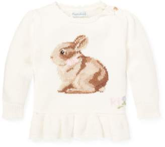 Ralph Lauren Intarsia-Knit Bunny Sweater