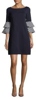 Eliza J Bell-Sleeve Shift Dress