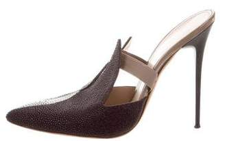 Marco De Vincenzo Stingray Pointed-Toe Mules