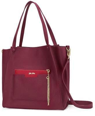 Folli Follie On The Go Burgundy Shoulder Bag