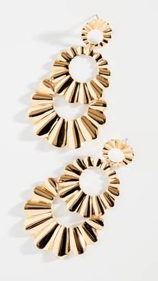 Kate Spade Scrunched Scallops Triple Drop Earrings