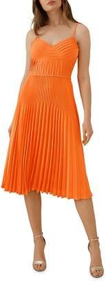 Karen Millen Chain-Trim Pleated Dress