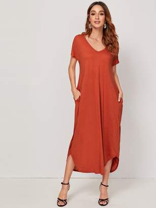 Shein Curved Hem Tee Dress