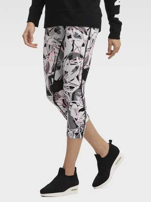 DKNY Printed Mid-Rise Cropped Tight