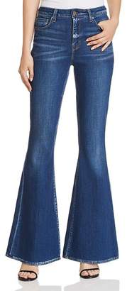 Elie Tahari Leone Flared Jeans in Light Indigo