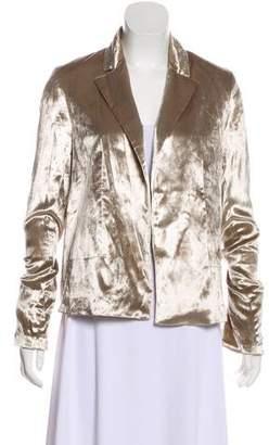 Galvan Long Sleeve Velvet Blazer