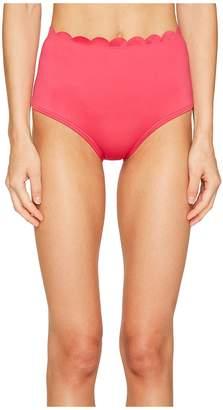 Kate Spade Core Solids #79 Scalloped High-Waist Bikini Bottom Women's Swimwear