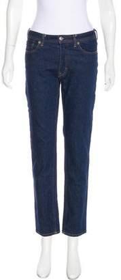 Acne Studios Blå Konst Mid-Rise Straight-Leg Jeans