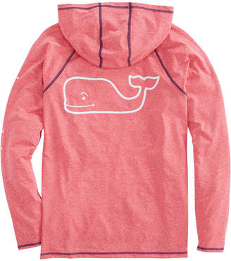 Vineyard Vines Long-Sleeve Heathered Performance Raglan Hoodie Whale T-Shirt
