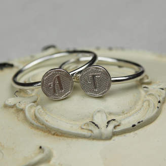 Nicola Crawford Sterling Silver Initial Stacking Ring