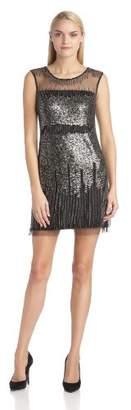 Adrianna Papell Women's Beaded Sleeveless Dress,UK 16 (US Size 12)