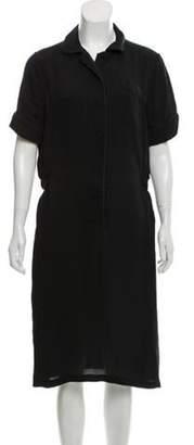 Bottega Veneta Short Sleeve Midi Dress Black Short Sleeve Midi Dress