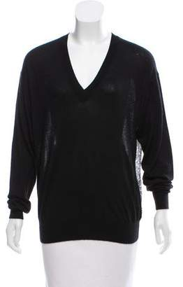 Derek Lam Silk-Cashmere V-Neck Sweater
