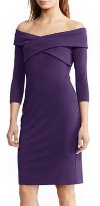 Women's Lauren Ralph Lauren Off The Shoulder Dress $169 thestylecure.com