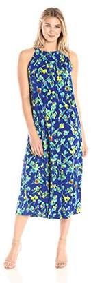 Ellen Tracy Women's Halter Maxi Dress