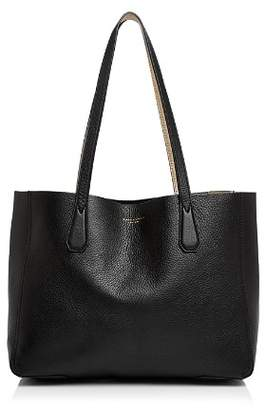 Tory Burch Perry Small Metallic Interior Leather Tote