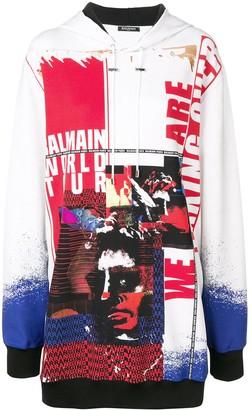 Balmain oversized logo hoodie