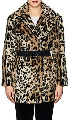 Frame Women's Cheetah-Print Faux-Fur Coat