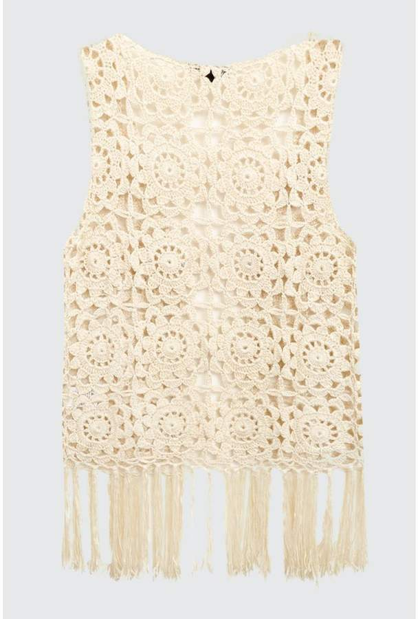 Crochet Tassel Waistcoat