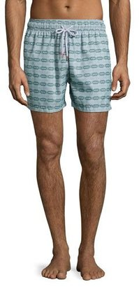 Retromarine Guillauche Ball Printed Swim Trunks, Green $155 thestylecure.com
