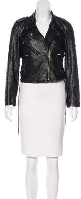 Opening Ceremony Perforated Vegan Leather Jacket