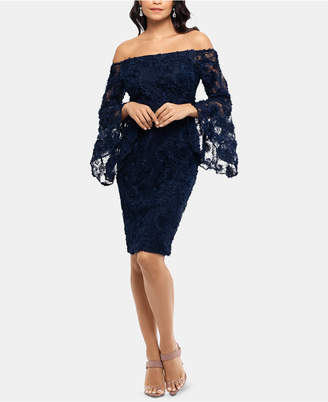 Xscape Evenings Off-The-Shoulder Lace Dress