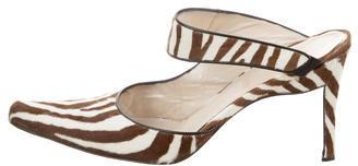 Christian Dior Christian Dior Ponyhair Pointed-Toe Mules