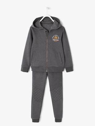 Vertbaudet Jacket with Zip + Fleece Trouser Set for Boys