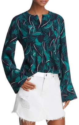 Equipment Heather Bell-Sleeve Silk Top