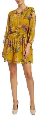 Dex Floral-Print Smocked Waist Dress