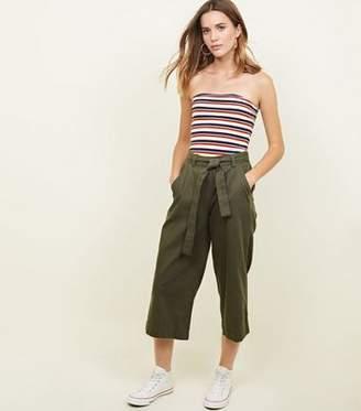 New Look Khaki Lightweight Denim Culottes