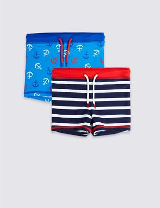 Marks and Spencer 2 Pack Swim Trunks (3 Months - 7 Years)