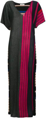 Circus Hotel striped lurex maxi dress