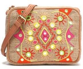 Antik Batik Embroidered Canvas Shoulder Bag